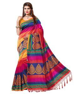 Diwali Sale - Mysore Art Silk Saree with Blouse Piece (Best Saree to buy under ₹500)