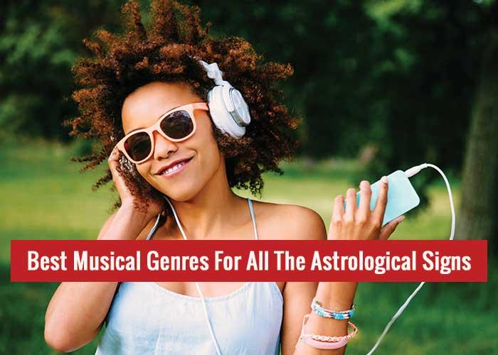 Musical genre zodiac sign